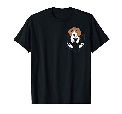 Beagle Hund In Der Tasche Niedlicher Taschen Beagle T-Shirt