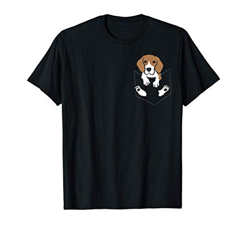 Beagle Dog In The Pocket Cute Pocket Beagle T-Shirt