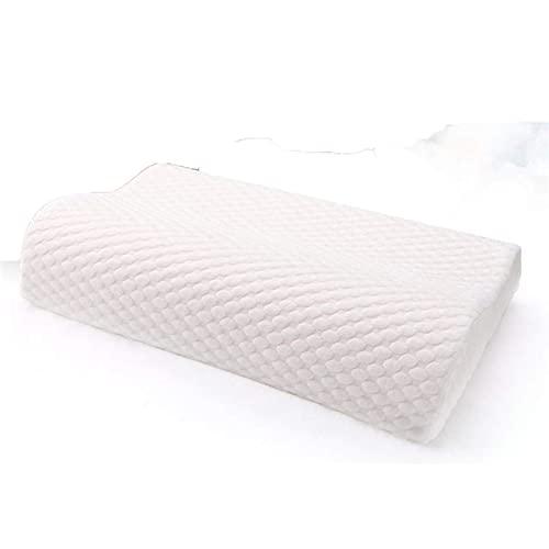 JONJUMP Almohada ortopédica para el cuello de la espuma de la memoria almohada ortopédica del coxis cervical almohadas para dormir lento rebote cuidado de la salud liberación del dolor
