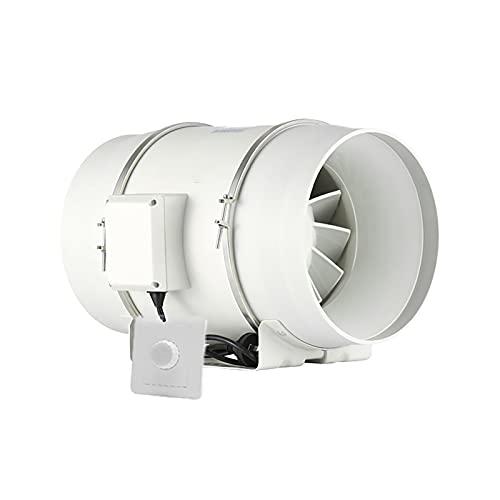 KaiLangDe 250mm 10' Extractor De Aire En Línea Ventilador De Conducto Ventilador De Baño Silencioso para Dormitorio Fábrica Taller Invernadero con Interruptor De Control De Velocidad Continuo
