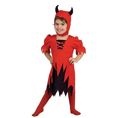 Ciao-Costume bambina Diavoletta, 3-4 anni, Rosso/Nero, 61338.3-4.DS