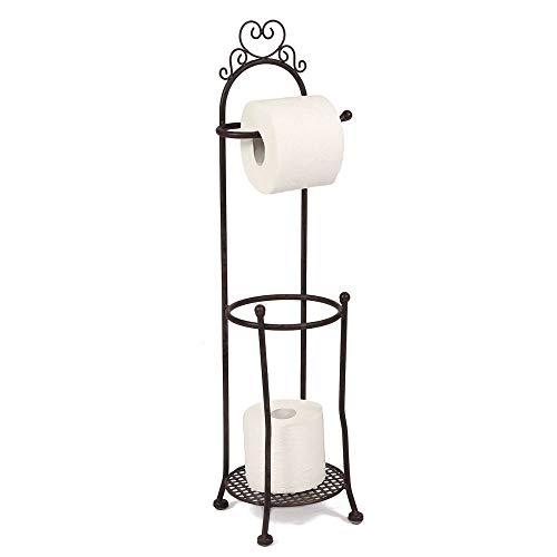 Porte-rouleau de papier toilette avec support pour papier toilette
