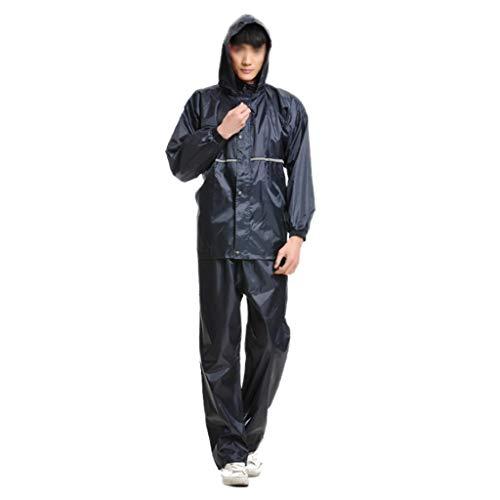 Preisvergleich Produktbild JXXDDQ Regenmantel mit Kapuze für Damen und Herren (Regenjacke und Regenhose Anzug) Erwachsene mit Kapuze Outdoor Arbeit Motorrad Golf Angeln,  Oxfordgewebe,  XXX-Large