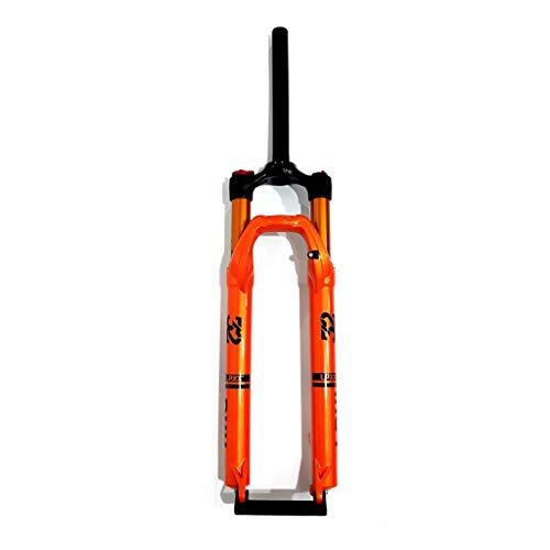 WHQ 29 Inch Bike Suspension Fork, 27.5 ER MTB Bicycle Air Fork Double Chamber 1-1/8' Disc Brake Remote Lock 100mm Trave 1690g (Color : B, Size : 27.5inch)
