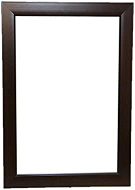 JMD Arts n Designs Solid Brown Synthetic Fiber Wood Water Resistant Wall Mirror(15x21inch)