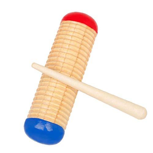 NaiCasy Guiro Rascador Music Guiro Guiro raspador de Madera de Sonido con Mazo de Instrumentos Musicales de percusión para niños Juguetes del Cabrito