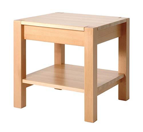 Haku-Möbel 30413 Beistelltisch 43 x 43 x 45 cm, buche gedämpft