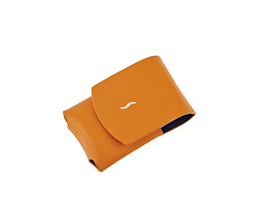 New S.T. Dupont minijet Lighter Leather Orange case