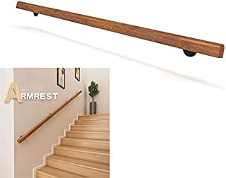 Wood Handrails for Indoor Stairs Steps Size : 1ft Wall Mounted Home Garden Corridor Lofts Decking Railings CMMC 1ft-20ft Professional Non-Slip Pine Handrails Complete Kit