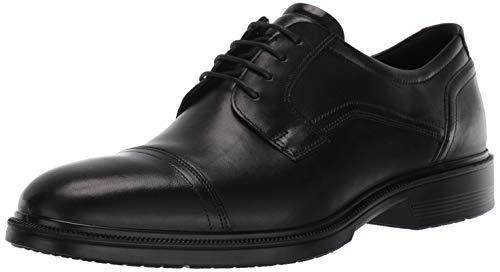 ECCO Lisbon, Zapatos de Cordones Derby Hombre, Negro (Black 1001), 40 EU