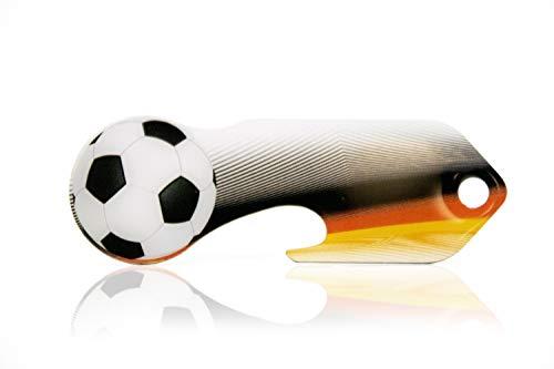 Einkaufswagenlöser Code24 Fußball, Schlüsselanhänger mit Einkaufschip & Schlüsselfinder, inkl. Registriercode für Schlüsselfundservice, Einkaufswagenchip mit Profiltiefenmesser