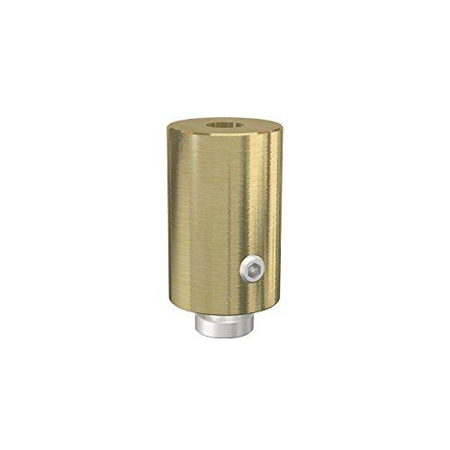 Flairdeco Deckenträger für Innenlaufstange 20 mm Ø, 1-läufig, Metall, Messing-Optik, 4 Stück