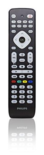 Philips SRP2018/10 Universal Fernbedienung (8-in-1, TV, TV2, Blu-ray, CBL, SAT, STR, VCR, Aux) schwarz