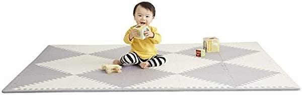 Skip Hop Playspot Foam Play Mat For Baby Grey Cream 70 X 56