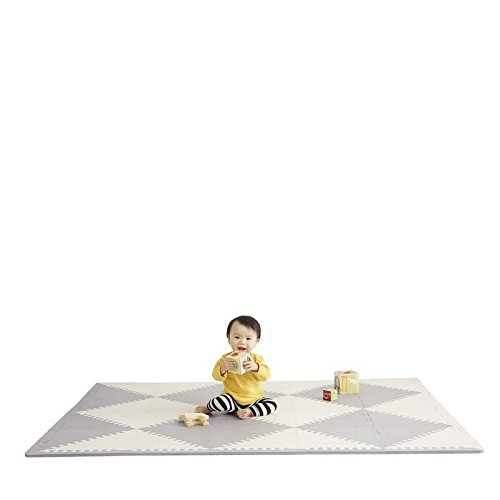 "Skip Hop Playspot Waterproof Foam Baby Play Mat, Grey/Cream, 70"" X 56"""
