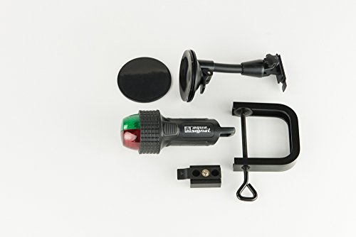 Aqua Signal 27400-7 Battery-Powered LED Bi-Color Bow Light with Suction Cup/C-Clamp Mount