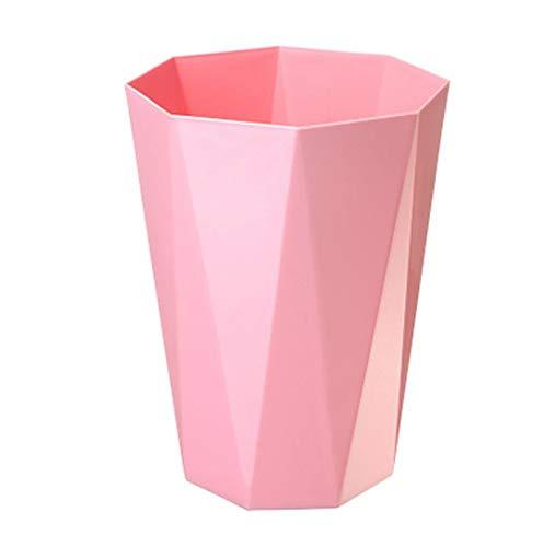 LAMEIDA Papierkorb Plastik Abfalleimer aus Plastik ohne Deckel Rund 30.5 * 23cm Rosa Papierkorb für Bad Büro Küche
