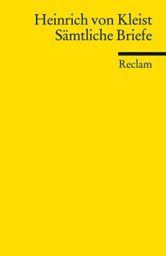 Sämtliche Briefe (Reclams Universal-Bibliothek)