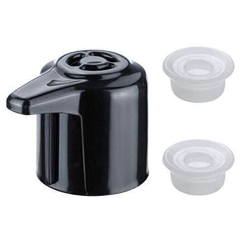 HENMI Dampfreinigungsgriff für Instant Pot Duo Modell 3, 5,6, 8 Qt Dampfreisetzungsventil Schnellkochtopf, Ersatzteil, Zubehör, Schwarz