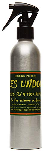 Biteback Products 'Flies Undone'™ Powerful, Safe Mosquito and Insect Repellent with 20% Icaridin, 250ml