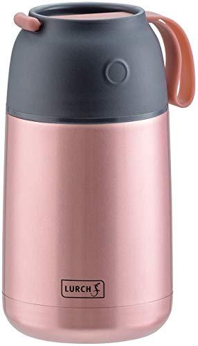 Lurch 240932 Iso-Pot / Thermo-Speisebehälter aus doppelwandigem Edelstahl mit großer Öffnung, 650 ml, rose gold