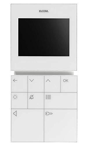 Elcom Video-Freispr.-Hausstation BVF-210 WS Innenstation für Türkommunikation 4250111814034