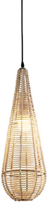 GXJ- chandelier Chang-dq Dekorations-Leuchter, kreatives Restaurant-Bekleidungsgeschft Rattan-Weaving-Dekorations-Leuchter-einzelner Kopf E27, der 120CM hngt Beleuchtung für Zuhause (Farbe    2)