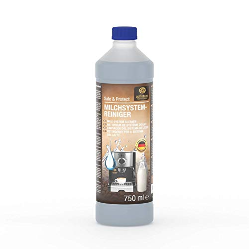 Coffeeano Milchsystemreiniger 750ml für Kaffeevollautomaten und Kaffeemaschinen | Inkl. gratis eBook | Milchdüsenreiniger kompatibel mit Jura, Siemens, Krups, Bosch, Miele, Melitta, WMF