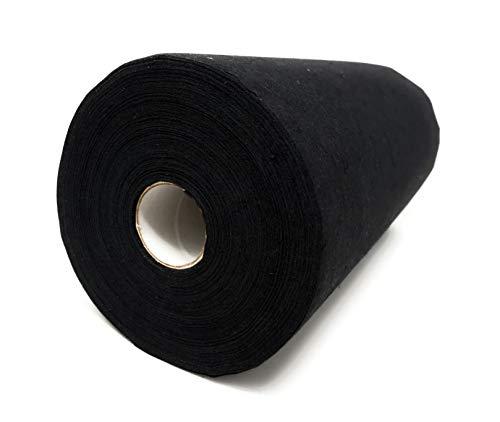Madeira con diseño de fieltro, de roturas de fieltro de colour blanco, 50 G/m², 30 cm de ancho, de algodón (100% algodón) al, por medio de las telas, negro, rollo de 50 m