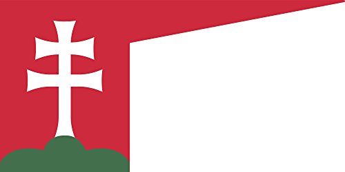 magFlags Drapeau Large Hungary 13th Century | Hungarian Flag in The 13th Century | Drapeau Paysage | 1.35m² | 80x160cm