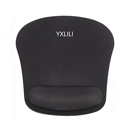 YXLILI Ergonomic Mouse Pad Mouse Mat Wrist Support, Gel Support Cushion Rest Mousepads, Soft Computer Mouse Pads for Wireless Mouse Non-Slip Rubber Waterproof for Keyboard Gaming Working Home Office