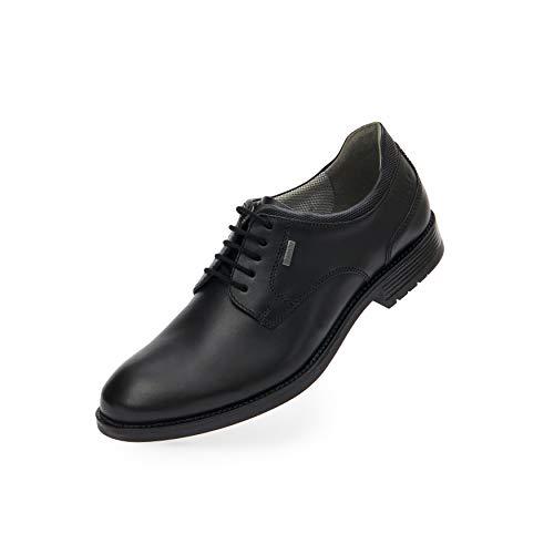 FRETZ men Sam - Zapatos de piel con Gore Tex, elegantes y robustos, suela cosida en marco, plantilla acolchada, transpirable, impermeable, para negocios y ocio, tallas 39-46, color Marrón, talla 43 EU