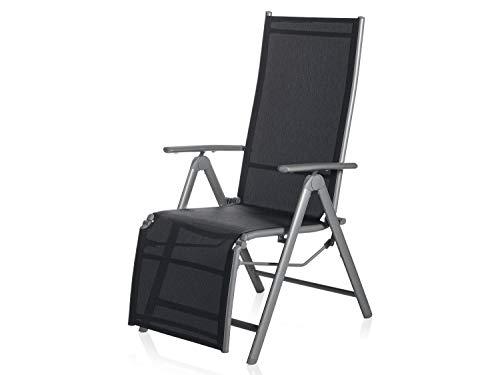 Florabest Aluminium Relaxsessel Klappstuhl Gartenstuhl Liegestuhl Hochlehner Balkon Sonnenliege Relaxliege Liege