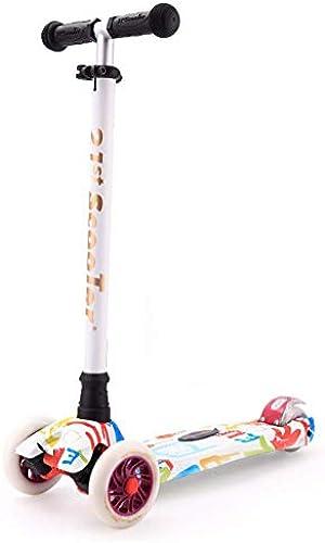 1-1 Aluminiumlegierung Leichtgewicht Scooter,Doppel-Hinterrad Kinder Blinkenden LED Rollen H nverstellbar Verstellbarer Lenker Stunt-Geeignet Für 3+mädchen Junge Vier Runden Roller.