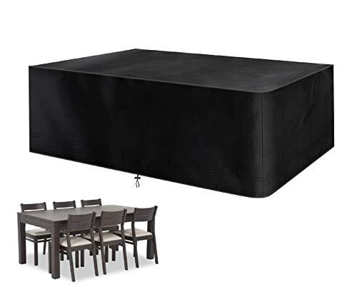 Mutsitaz Funda para Muebles de Jardín Impermeable 420D Oxford Muebles de Jardin Cubierta, Tamaño 242 X 162 X 100 cm