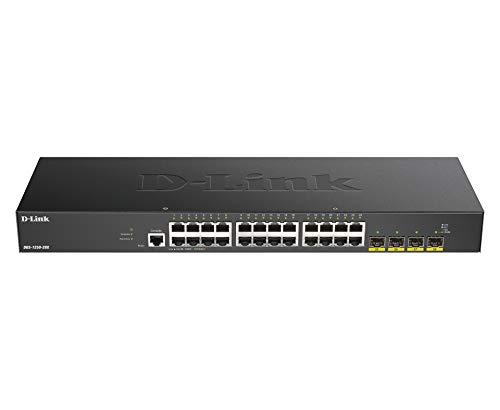 D-Link DGS-1250-28X Switch Smart+ 24-Port Gigabit + 4x 10G SFP+ Idéal pour Entreprise Administration et Réseaux Gérés