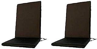 Edenjardi Pack 2 Cojines textilene para sillas de Exterior reclinables Color Negro, Tamaño 114x48x5 cm, Tela Antimanchas, Desenfundable