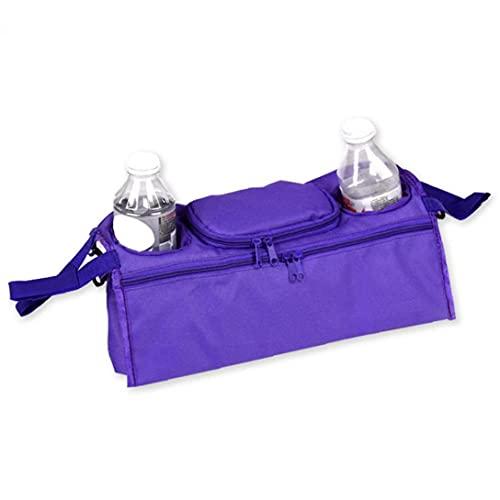 fregthf Colgando del Carro de bebé Bolsa de Botella portátil de Almacenamiento Copa Paraguas Bolso Colgante Cesta Cochecito Titular púrpura