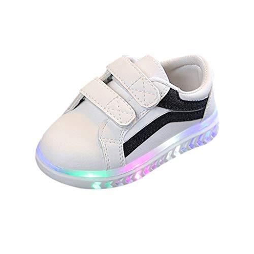 Patifia Baby Kinderschuhe LED Mädchen Jungen, Licht Turnschuhe Leuchtend Blinkschuhe Sportschuhe Klettverschluss Freizeitschuhe Bling Schuhe mit Weiche Sohle für Kleinkinder 1-6 Jahre