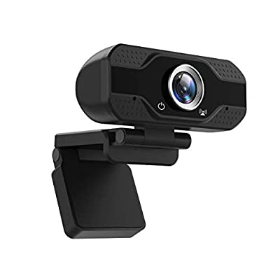 1080P Webcam with Microphone, USB Web Camera Pl...