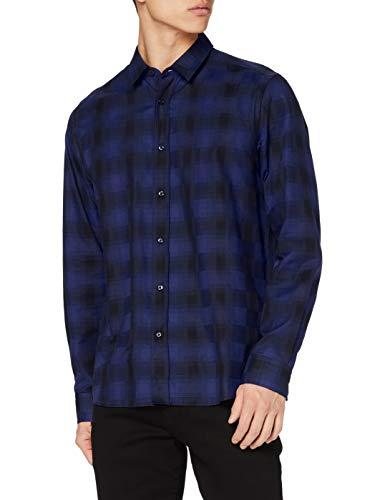 HUGO Mens Emero Shirt, Dark Blue (405), S