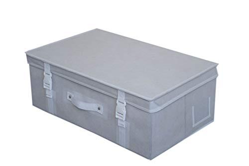 Wedcova Aufbewahrungsbox, mittelgroß, faltbar, für Brautkleid, Hochzeitskleid, Reisebox, Unterbettstoff, Schlafzimmer, Organizer, Box mit 10 säurefreien Seidenpapier (weiß)
