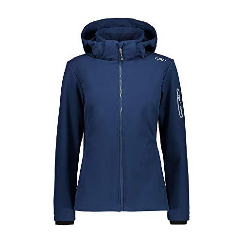 CMP Damen Windproof and Waterproof Softshell Jacket WP 7.000 Jacke, Blue, D48