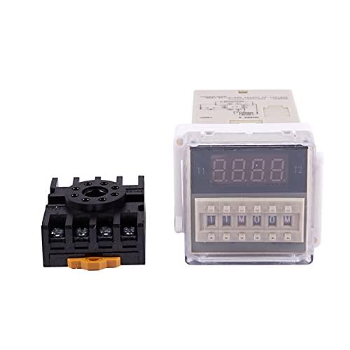 AC 220V 5A Doble tiempo programable Temporizador de tiempo de retraso Herramienta de dispositivo DH48S-S (Size : AC 220V)