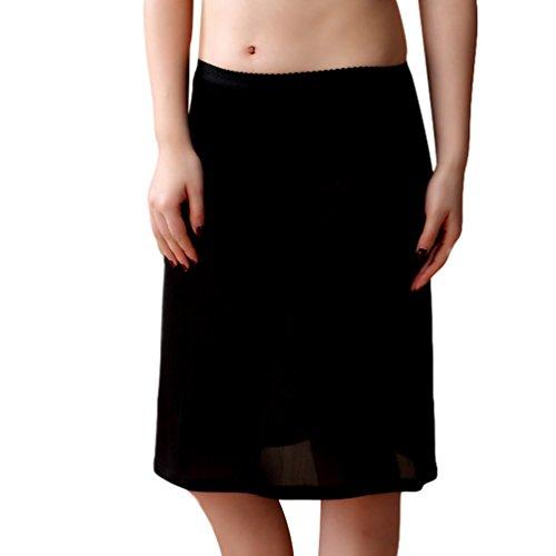 Baymate Mujer Tejido de Punto Enaguas Cortas Lencería Plain Cling Resistente Cintura Antideslizante con Encaje