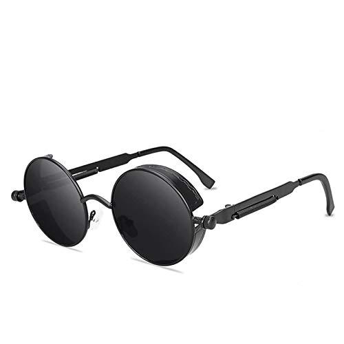 WANGZX Gafas De Sol Redondas De Estilo Gótico Clásico Steampunk Gafas De Sol con Marco De Metal Retro para Hombres Y Mujeres C3