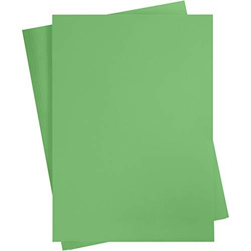 Tonkarton A2, 420x600mm, 180 g, grasgrün, 10 Blatt