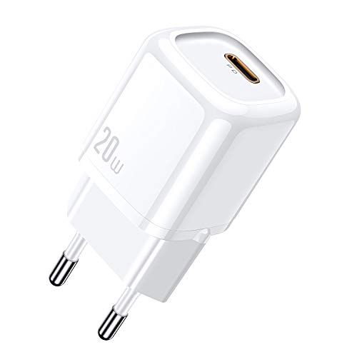 mcdodo Cargador USB C 20W, PD3.0 Cargador Rapido USB C Tipo C Cargadores de Red Compatible con iPhone 12 Mini/iPhone 12 / iPhone 12 Pro/iPhone 12 Pro MAX/iPad Air 2020/ iPad 2020 / AirPods Pro