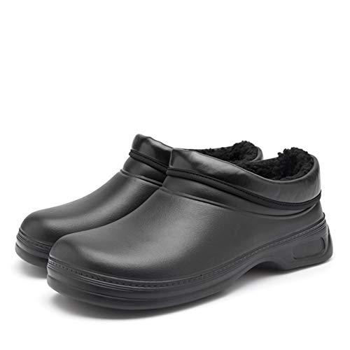Unisex chodaki ogrodowe dla dorosłych, wodoodporne, antypoślizgowe chodaki kuchenne, lekkie chodaki Eva Clogs Shoe robocze chodaki bezpieczeństwa czarne EU40
