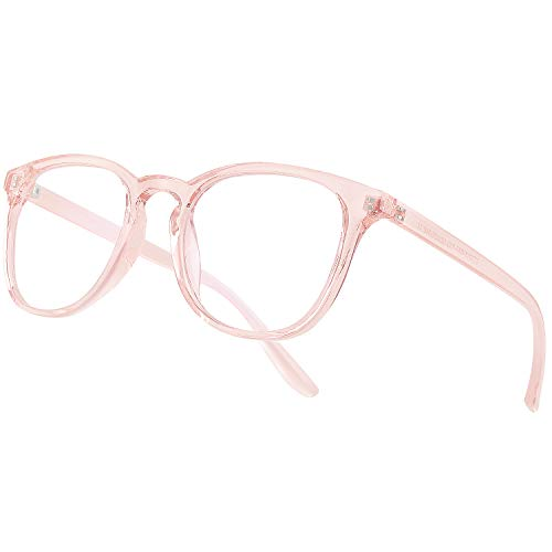 Vimbloom Blaulichtfilter Brille Computerbrille PC Gaming Bluelight Filter Uv Blue Light Blocking Glasses Anti Damen Herren Ohne Stärke Entspiegelt VI387 (Rosa)